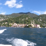 Looking back to Varenna