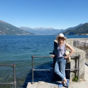 Right at the edge of the point on which Bellagio sits - looking towards Switzerland