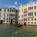Back on the Grand Canal, en route to our hotel in a water taxi