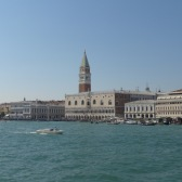 Looking back to St Marks Square from the ferry