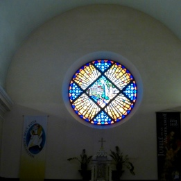 Beautiful window in the church