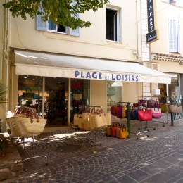 Pretty shop front in Sainte-Maxime