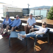The crew on the rooftop