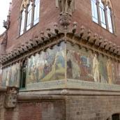 Mosaics on the exterior walls