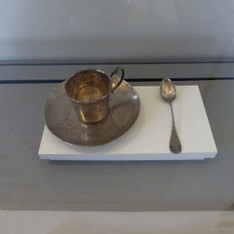 Gaudi's coffee cup and sppon