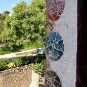 Mosaics around the windows of the warden's house
