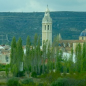 Church in a village in the fiels