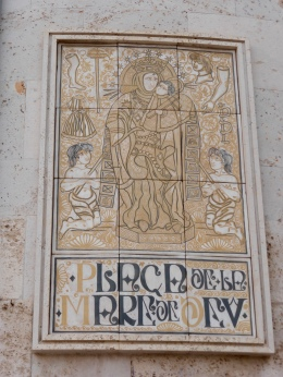 Plaque on Basilica de la Mare de Deu
