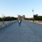 Standing on the Pont dels Serrans