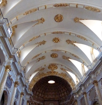 The beautiful gilded interior of yet another church
