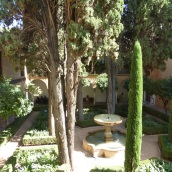 A shady courtyard in the palace