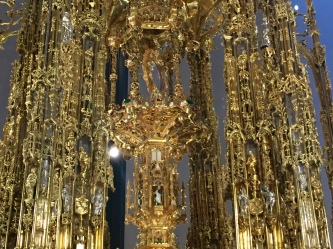 Close up of the Monstrance