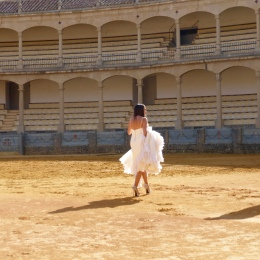 A bride in the bullring