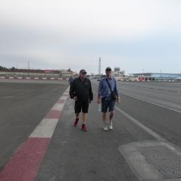 The boys on the tarmac