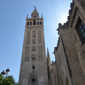 The Giraldo - the bell tower of the Seville Cathedral, once a minaret