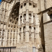Sculptures adorning one of the Cathedral's facades