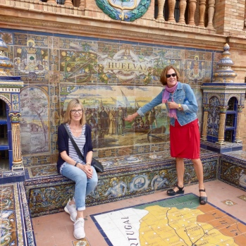 The tiled alcoves are amazing - that is our guide Pepa