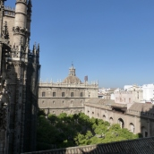 Looking down to the Patio de los Naranjos - The Courtyard of the Orange Trees