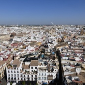 Looking down on Seville