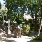 A shady courtyard
