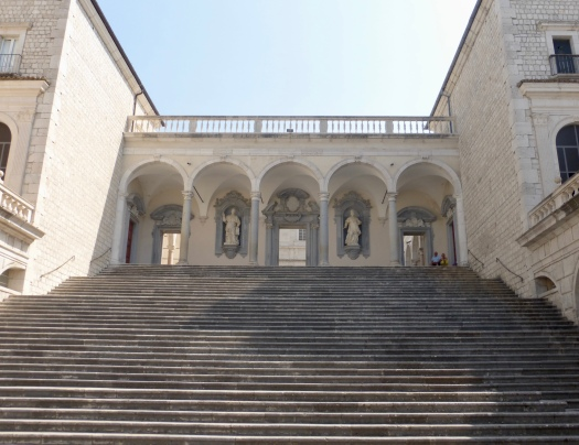 Stairs leading to the abbey
