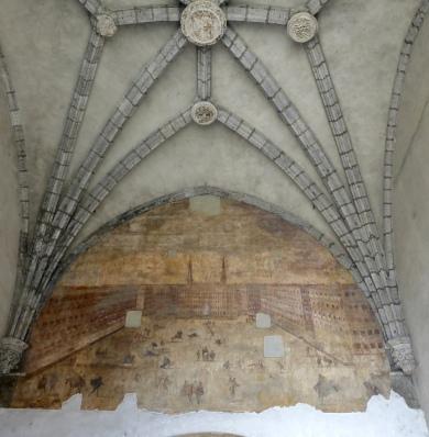 Mural still remaining inside the arch