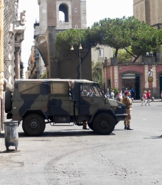 Naples has a large military presence