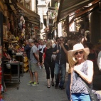 In one of the busy alleys