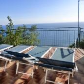 The sun terrace looks out toward Capri