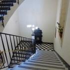 Elegant stairway in the Des Etrangers hotel