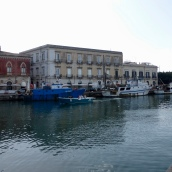 The moorings beside one of the bridges connecting Syracuse proper to Ortigia