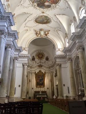 The interior of Santa Maria della Concezione