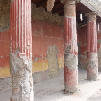 The columns in the House of Relief of Telephus are amazing