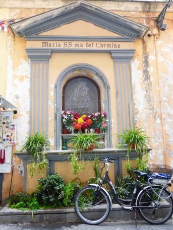 Shrine and bike