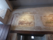 One the the frescoes above a cubicle
