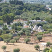Trulli in the valley below