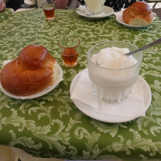 Brioche and granita - typical Siciian breakfast