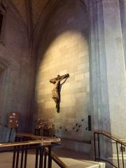 Light on the crucifx