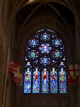 The stained glass is spectacular