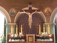 The alter in the Basilica