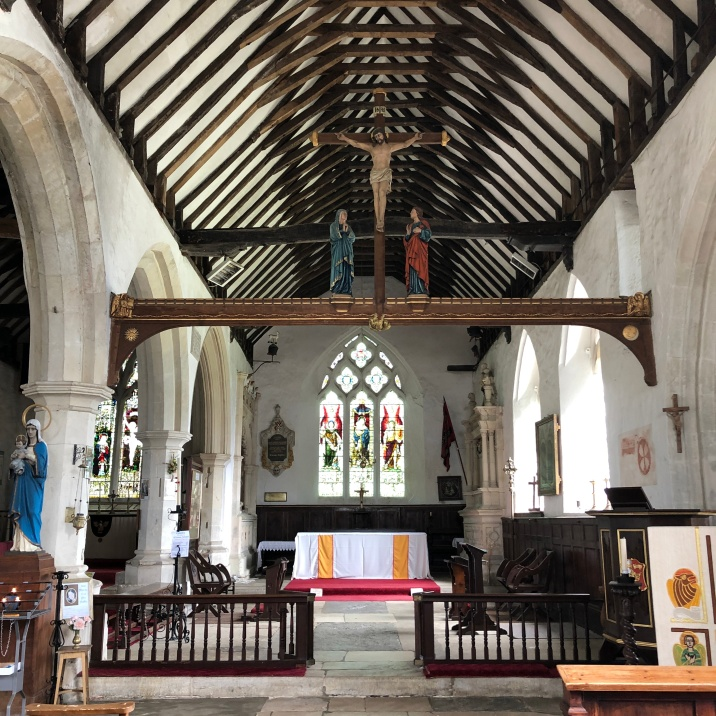 The interior of All Saints