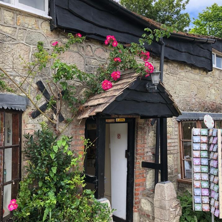 Pretty village doorway