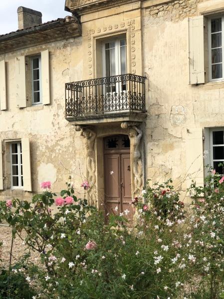 Pretty house entrance beside the castle